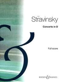 Stravinsky, I: Concerto for String Orch In D