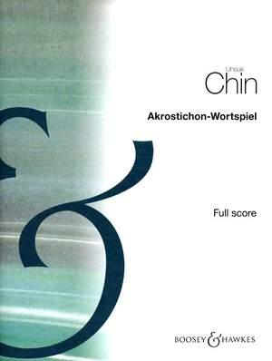Chin, U: Akrostichon-Wortspiel (Acrostic-Wordplay)