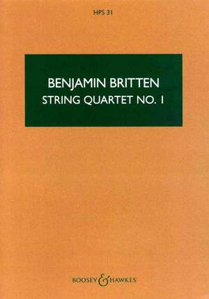 Britten, B: String Quartet No. 1 D major op. 25