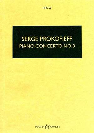 Prokofieff, S: Piano Concerto No. 3 in C major op. 26  HPS 52