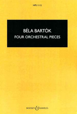 Bartók, B: Four Orchestral Pieces op. 12  HPS 1112 Product Image
