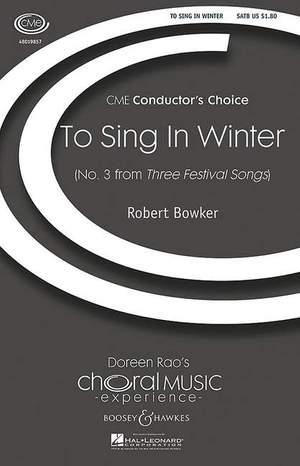 Bowker, R: To Sing in Winter