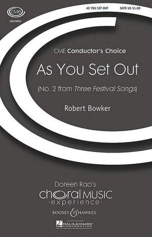 Bowker, R: As You Set Out