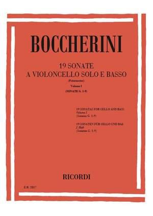 Boccherini: Sonatas Vol.1: G1 - G9