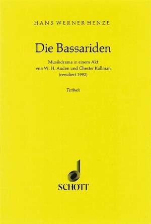 Henze, H W: The Bassarids