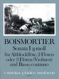 Boismortier, J B d: Sonata I G minor op. 34