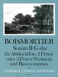 Boismortier, J B d: Sonata II G major op. 34