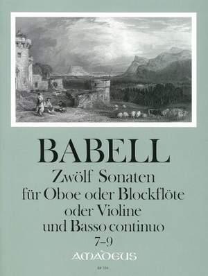 Babell, W: 12 Sonatas Vol. 3