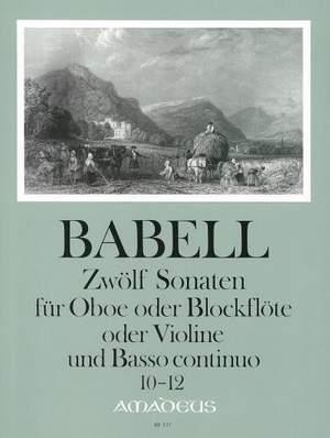 Babell, W: 12 Sonatas Vol. 4