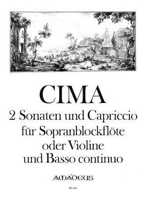 Cima, G P: 2 Sonatas & Capriccio