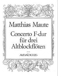 Maute, M: Concerto F major
