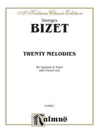 Georges Bizet: Twenty Melodies - Soprano or Tenor