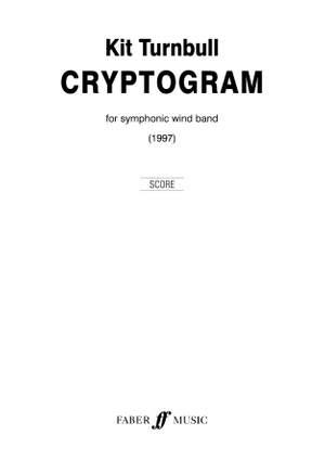 Turnbull, Kit: Cryptogram. Wind band (score)