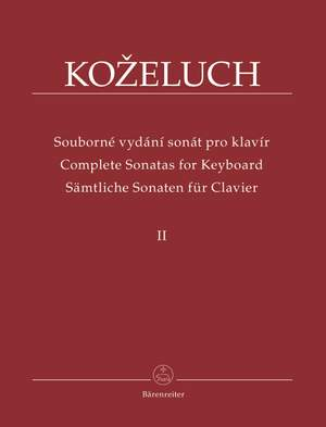 Kozeluch, L: Complete Sonatas for Keyboard Solo Vol. 2 (Urtext)