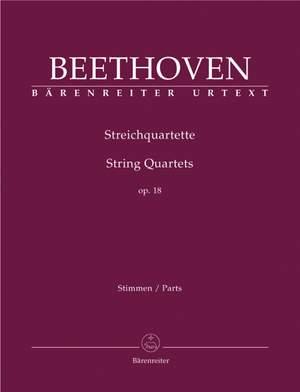 Beethoven, L van: String Quartets, Op.18 Nos. 1 - 6 (Urtext)