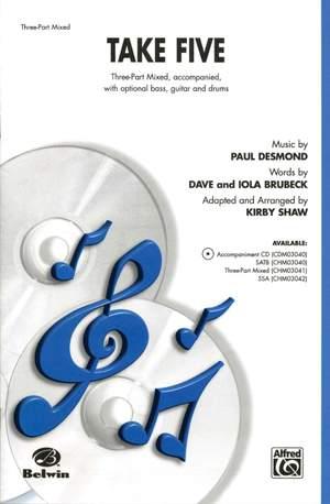 Paul Desmond: Take Five 3-Part Mixed