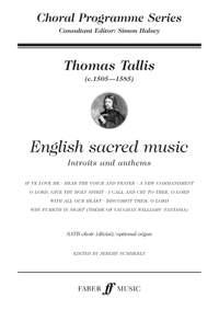 Tallis, Thomas: English sacred music. SATB opt.acc (CPS)