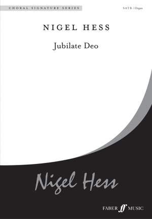 Hess: Jubilate Deo. SATB and organ