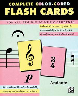 89 Color-Coded Flash Cards Product Image
