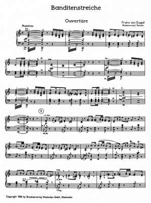 Suppe, Franz von: Banditenstreiche Vocal score