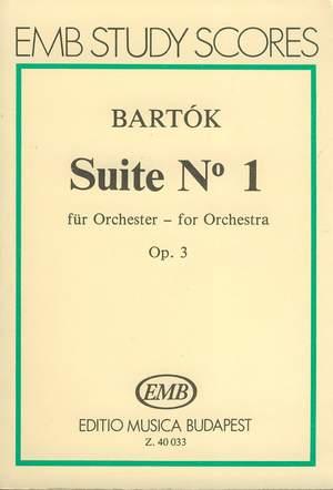 Bartok, Bela: Suite No. 1 for orchestra