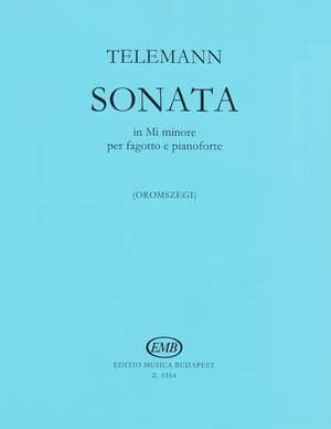 Telemann, Georg Philipp: Sonata in E minor