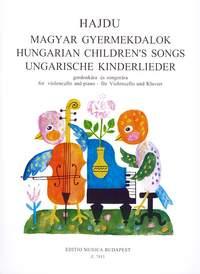 Hajdu, Mihaly: Hungarian Children's Songs for violoncel