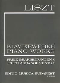 Liszt: Free Arrangements X (paperback)