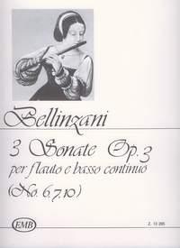 Bellinzani, Paolo Benedetto: 3 Sonatas for flute and basso continuo