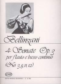 Bellinzani, Paolo Benedetto: 4 Sonate per flauto e basso continuo