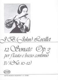 Loeillet, J B: 12 szonata Vol. 4