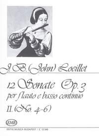 Loeillet, J B: 12 Sonaten fur Flote e Basso Continuo, o
