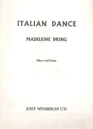 Dring, Madaleine: Italian Dance (oboe and piano)