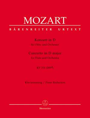 Mozart, WA: Concerto for Flute No.2 in D (K.314) (K.285d) (Urtext)