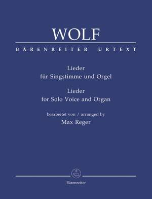 Wolf, H: Sacred Songs for Solo Voice and Organ arranged by Max Reger (G) (Urtext)