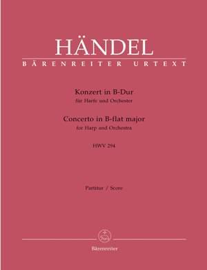 Handel, GF: Concerto for Harp in B-flat (HWV 294) (Urtext)