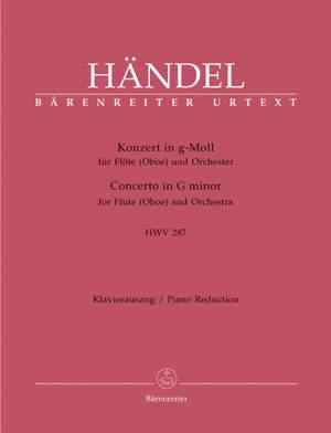 Handel, GF: Concerto for Flute (Oboe) in G minor (HWV 287) (First edition) (Urtext)