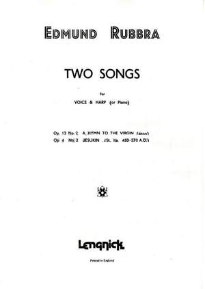 Edmund Rubbra: Two Songs Opus 4 Nr 2/Opus 13 Nr 2