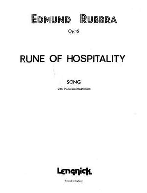 Edmund Rubbra: Rune of Hospitality Opus 15