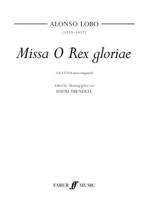 Alonso Lobo: Mi O Rex gloriae.