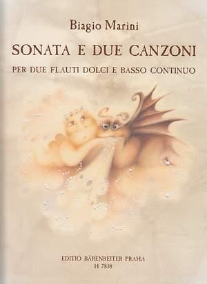 Marini, B: Sonata e due canzoni from Op.8