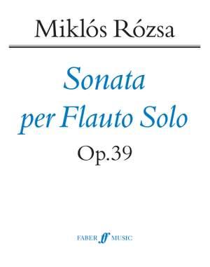 Miklos Rozsa: Sonata for Solo Flute