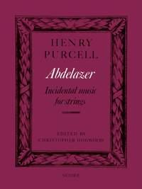 Henry Purcell: Abdelazer (score)