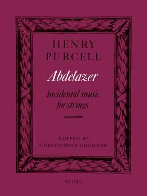 Purcell, Henry: Abdelazer (score)