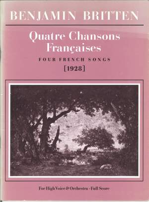 Benjamin Britten: Quatre Chansons Françaises