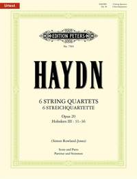 Haydn: The 6 String Quartets Op.20 (Full Score & Parts)