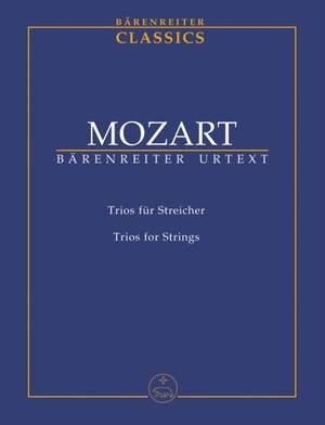 Mozart, WA: Trios for Strings (K.563,562e,266/271f) (Urtext)