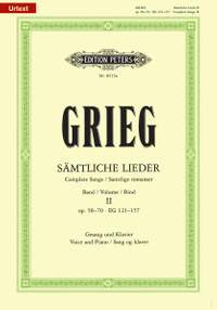 Grieg: Complete Songs Volume 2