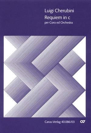 Requiem in C Minor Luigi Cherubini Mixed Choir and Orchestra Vocal Score
