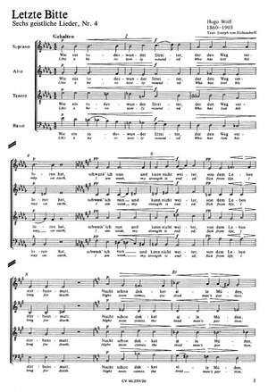 Wolf: Eichendorff-Lieder Nr. 2 und 4